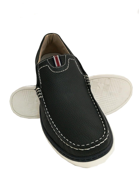 Zerimar Chaussures Bateau en Cuir | Chaussures Nautiques Homme | Mocassins Homme | Grandes Tailles 46-50 20311061fba_azul marino