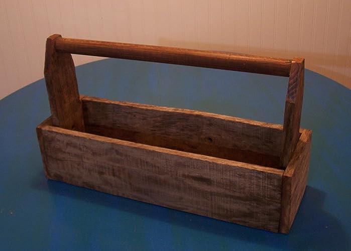 Amazon Com Rustic Reclaimed Wood Tool Box Planter Handmade