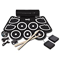 RockJam Portable MIDI Electronic Roll Up Drum Kit