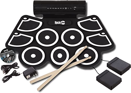 RockJam MIDI Electronic Roll Up Drum Kit