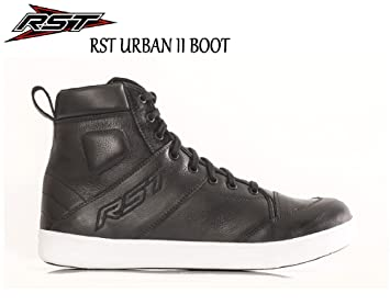 RST URBAN II SHORT ANKLE BOOTS Motorbike Motorcycle Casual Street Trainer CE App Boot BLACK//RED