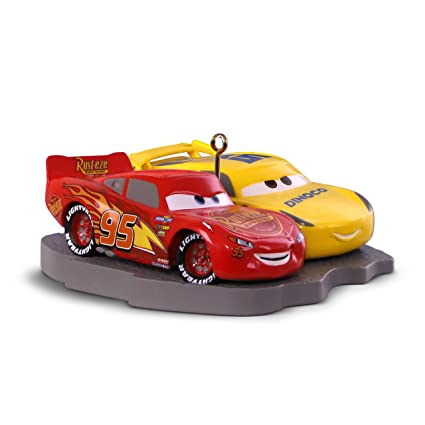 Disney Cars Christmas Decorations.Hallmark Keepsake Christmas Ornament 2018 Year Dated Disney Pixar Cars 3 Lightning Mcqueen And Cruz Ramirez