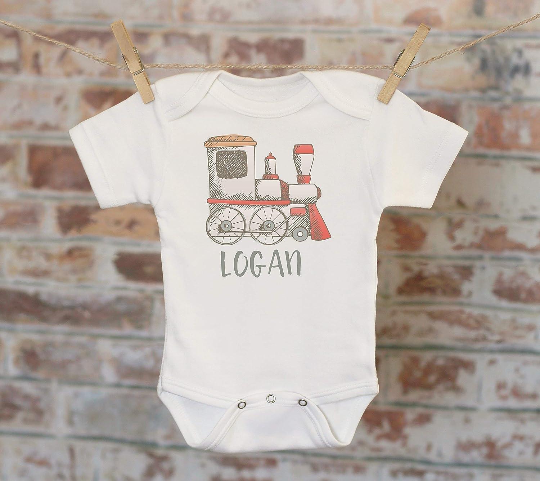 Choo Choo Train Personalized Onesie® , Toy Train Shirt, Custom Baby Onesie, Cute Baby Clothes, Boho Baby Bodysuit, Baby Shower Gift, Boho Boys Outfit