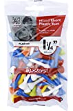 "Masters Golf Plastic Tees 1 1/4"" Mixed Colour 50 Pack"