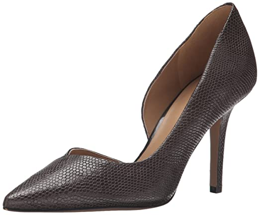 Nine West Women's Jowzer Reptile Dress Pump, Dark Grey/Dark Grey, ...