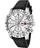 Chopard Men's Mille Milgia Automatic Chronograph GMT Light Silver Dial Black Rubber Limited Edition