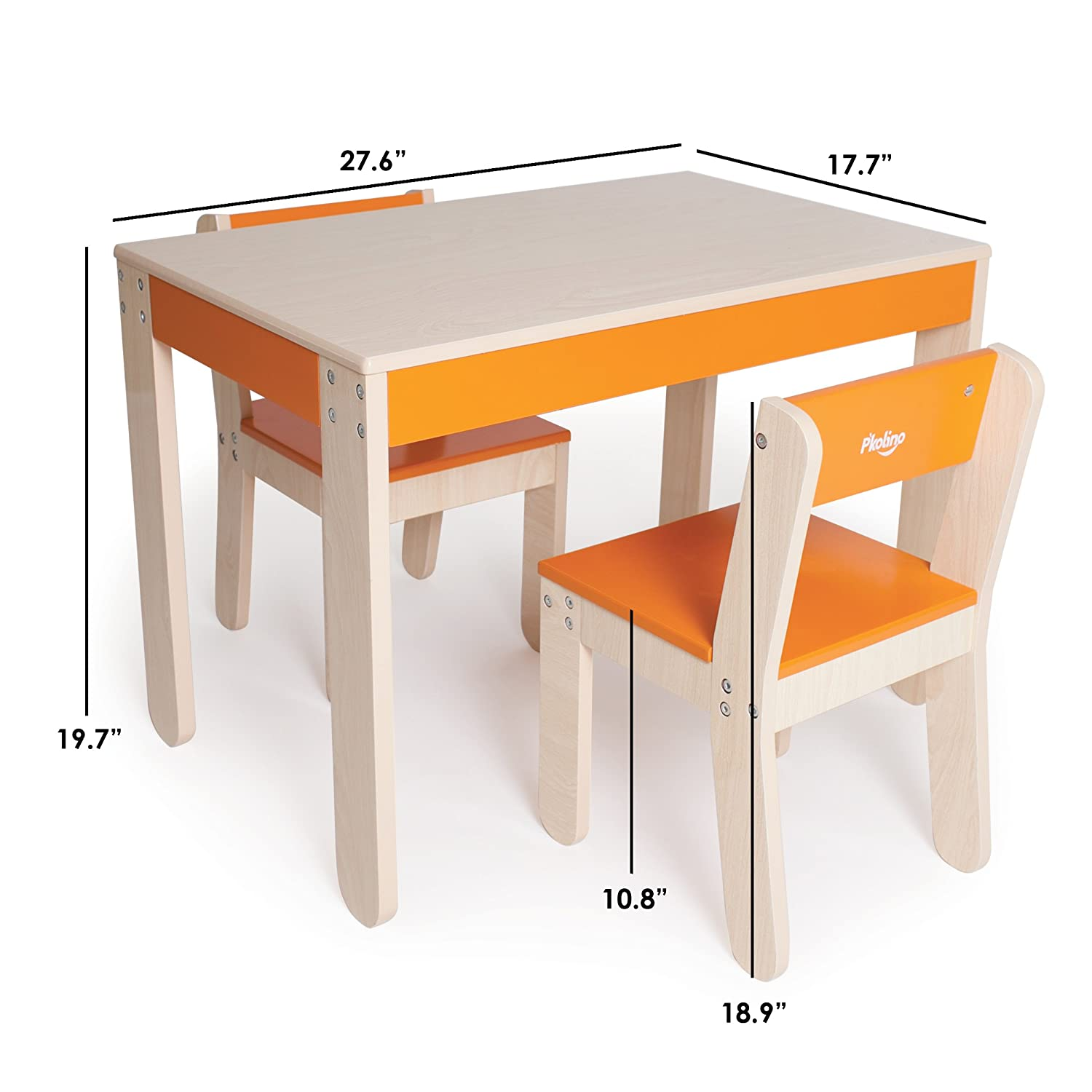 Amazon P kolino Little e s Table and Chairs Orange Baby