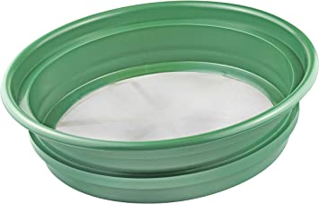 """SE Patented Stackable 13-¼"""" Sifting Pan, Mesh Size 1/100"""