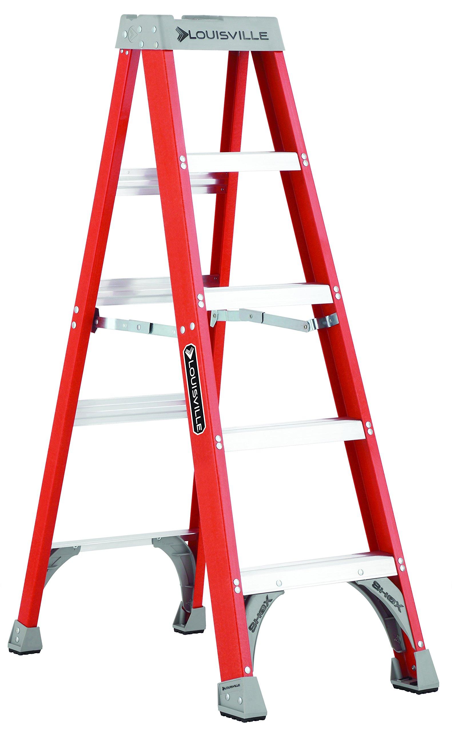 Louisville Ladder FS1505 300-Pound Duty Rating Fiberglass Step Ladder, 5-Feet