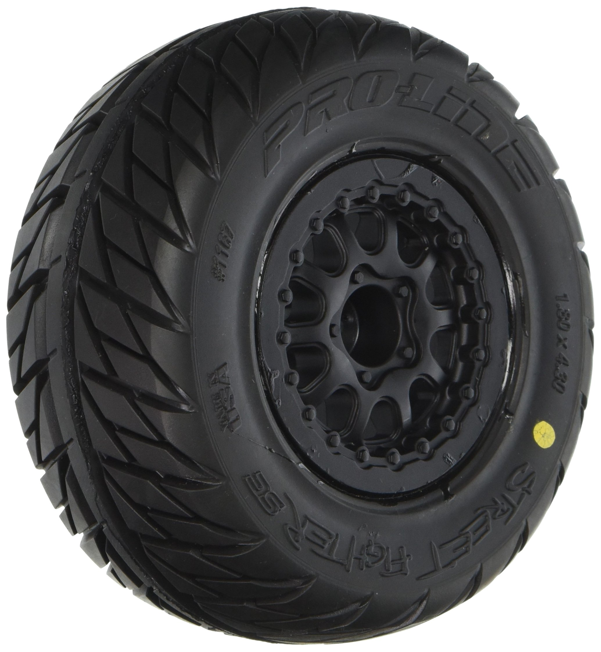 Pro-Line Racing 1167-17 Street Fighter SC 2.2''/3.0'' Tires Mounted on Renegade Black Wheels