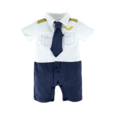 BIG ELEPHANT Pijama de mameluco de manga corta para bebés con ...