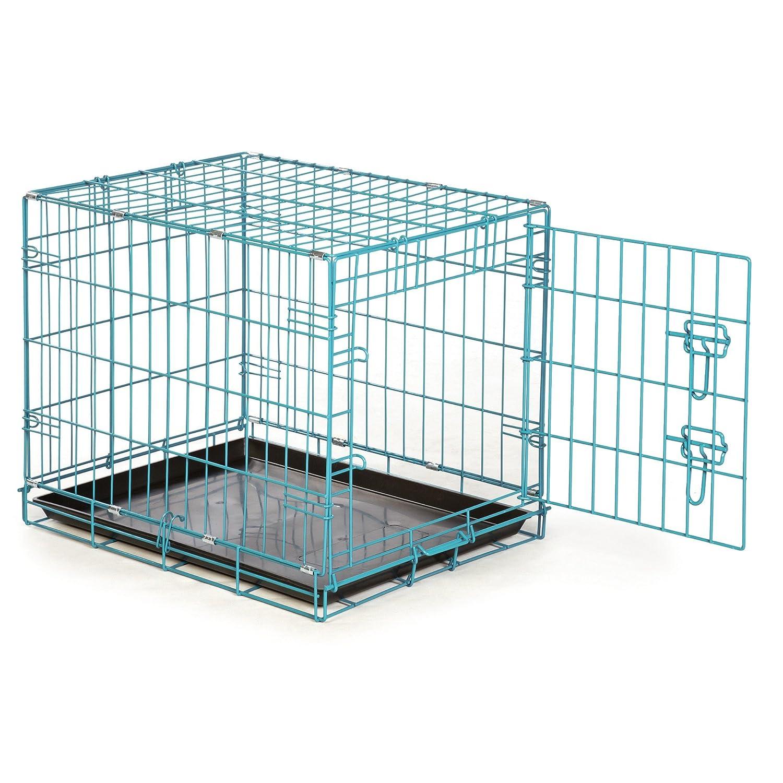 Easy Dual Latching Dog Crate, Medium/Large, Teal: Amazon.co.uk: Pet ...