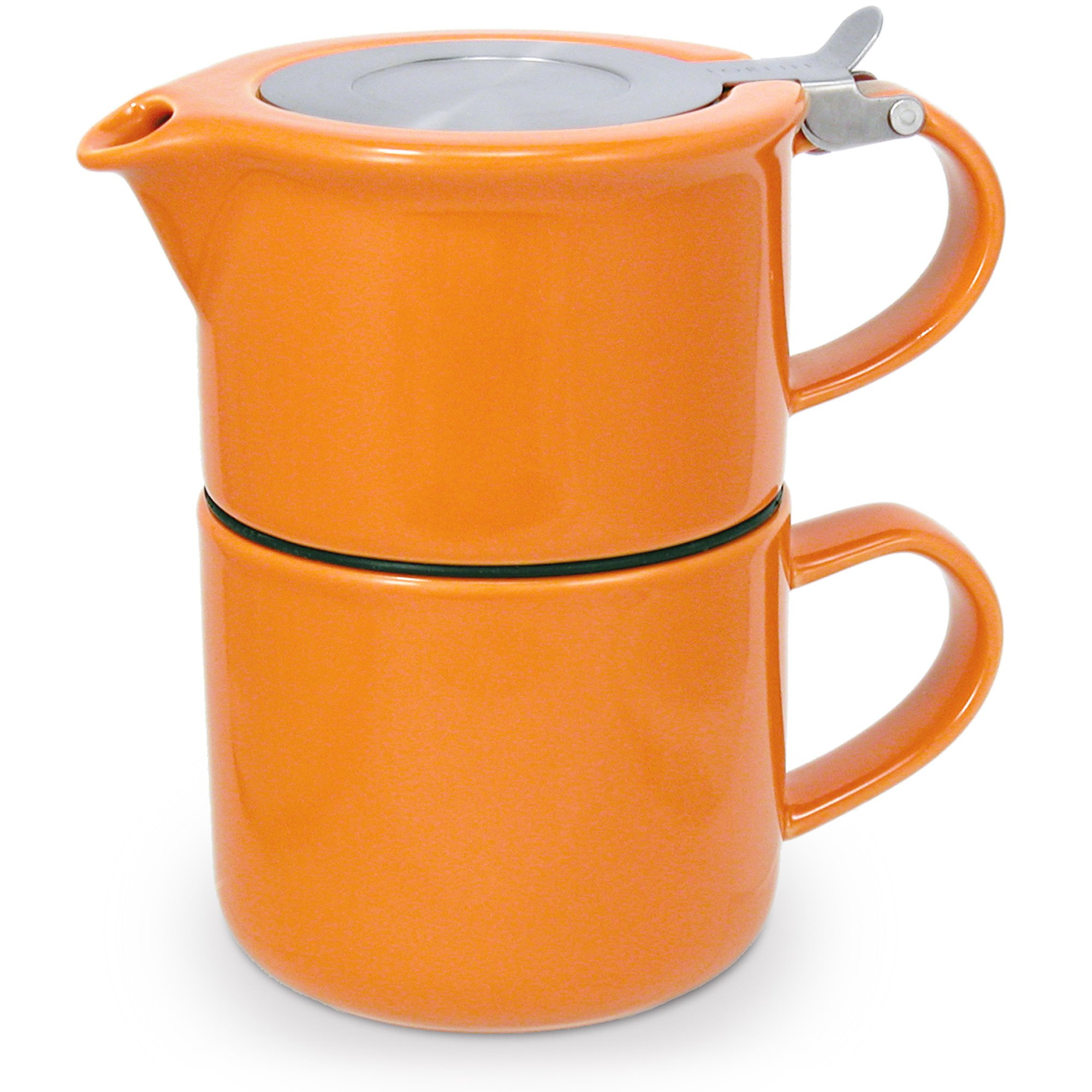 FORLIFE Tea for One with Infuser 14 ounces, Carrot