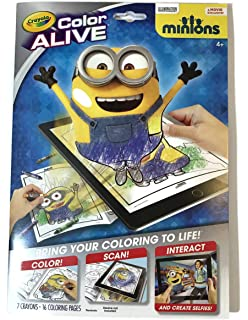 crayola color alive animated minions pages - Color Alive Coloring Pages Minions