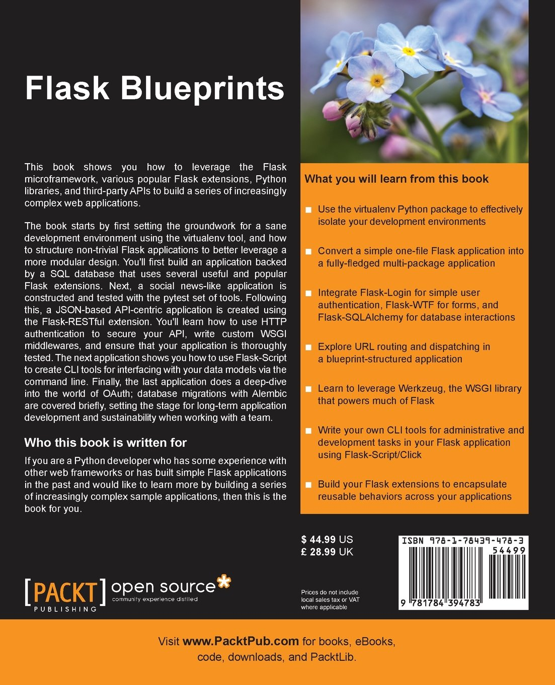 Flask blueprints joel perras 9781784394783 amazon books malvernweather Choice Image