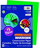 "Riverside 3D Construction Paper, Holiday Green, 9"" x 12"", 50 Sheets"