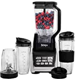 Nutri Ninja Personal and Countertop Blender with 1200-Watt Auto-iQ Base, 72-Ounce Pitcher, and 18, 24, and 32-Ounce Cups…