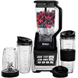 Nutri Ninja Personal and Countertop Blender with 1200-Watt Auto-iQ Base, 72-Ounce Pitcher, and 18, 24, and 32-Ounce Cups with