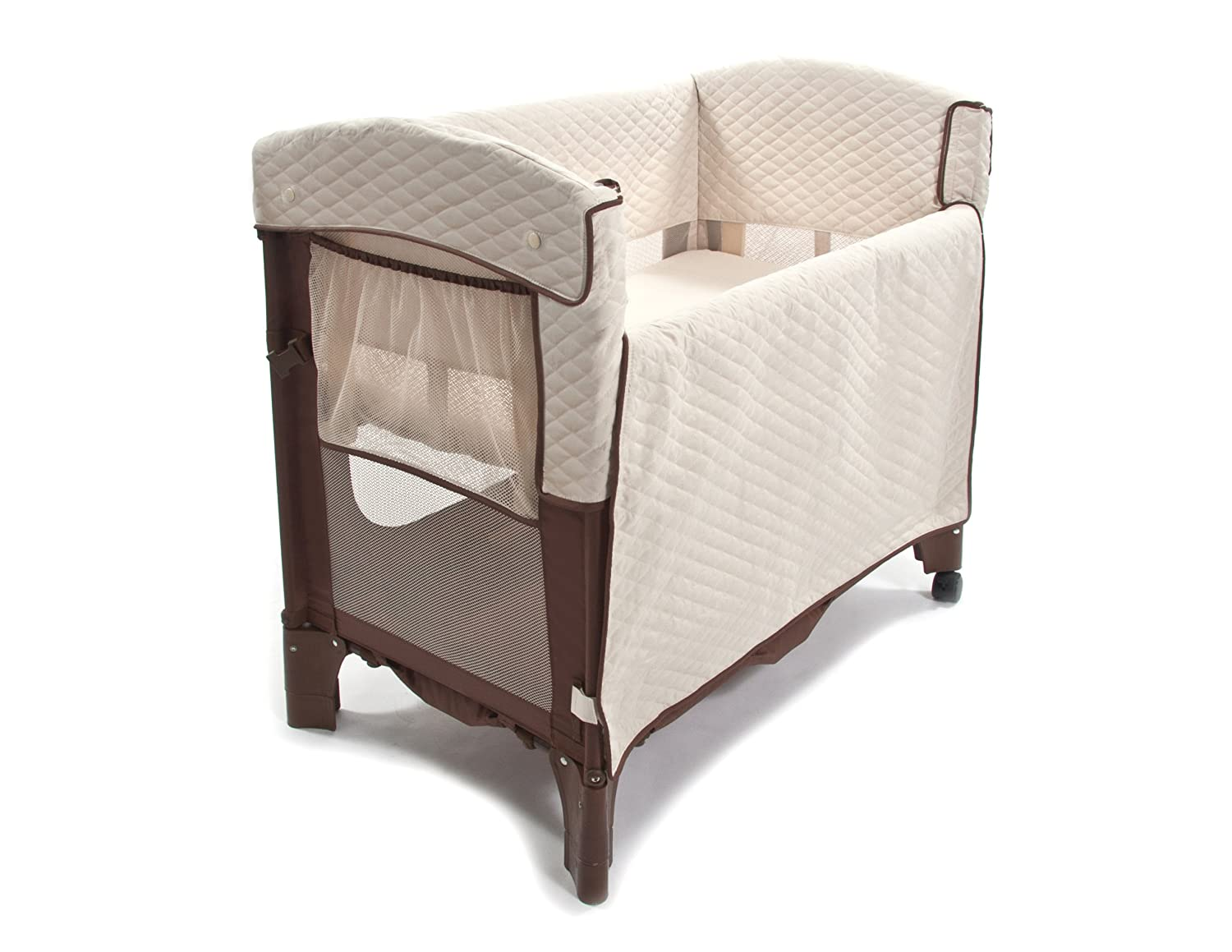 Amazon.com : Arm's Reach Curved Mini Convertible Co-Sleeper 5213-CN-P,  Cocoa/Natural : Baby