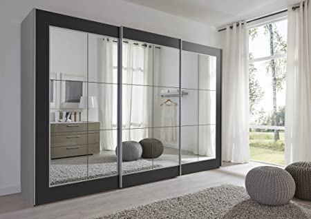 sliding door bedroom furniture. Schlafzimmer Lattice: Black Sliding Door Wardrobe With Mirror - 202cm Or 301cm Wide German Bedroom Furniture C