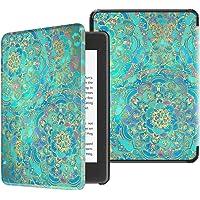 Fintie SlimShell Funda para Kindle Paperwhite (10.ª generación, 2018) - Carcasa Fina y Ligera de Cuero Sintético con Función de Auto-Reposo/Activación, Jade