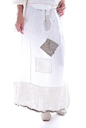 a9aa15ab2978 Image Unavailable. Image not available for. Color: Magnolia Pearl Linen  Celestyna Skirt with Side Tie Waist