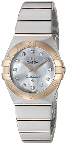 Omega Women s 12320246055001 Constellation Analog Display Swiss Quartz Silver Watch