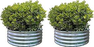 Round Metal Raised Garden Bed Planter 36