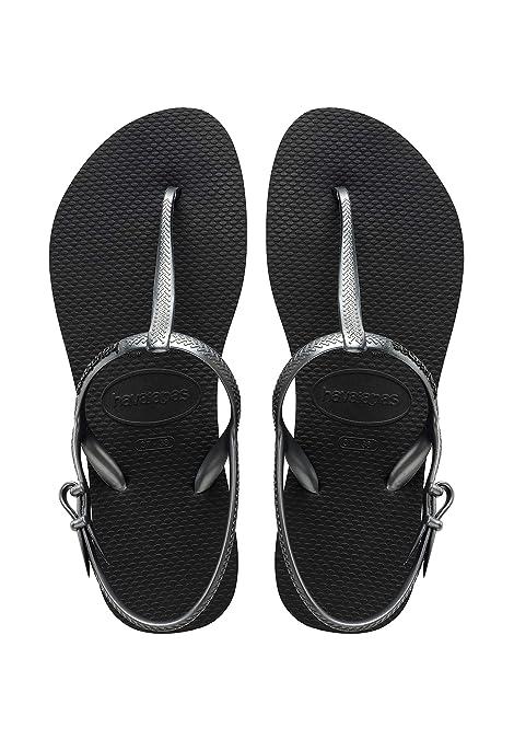 bc8696177 Havaianas Women s Luna Sandal Flip Flop Navy Silver  Amazon.ca ...