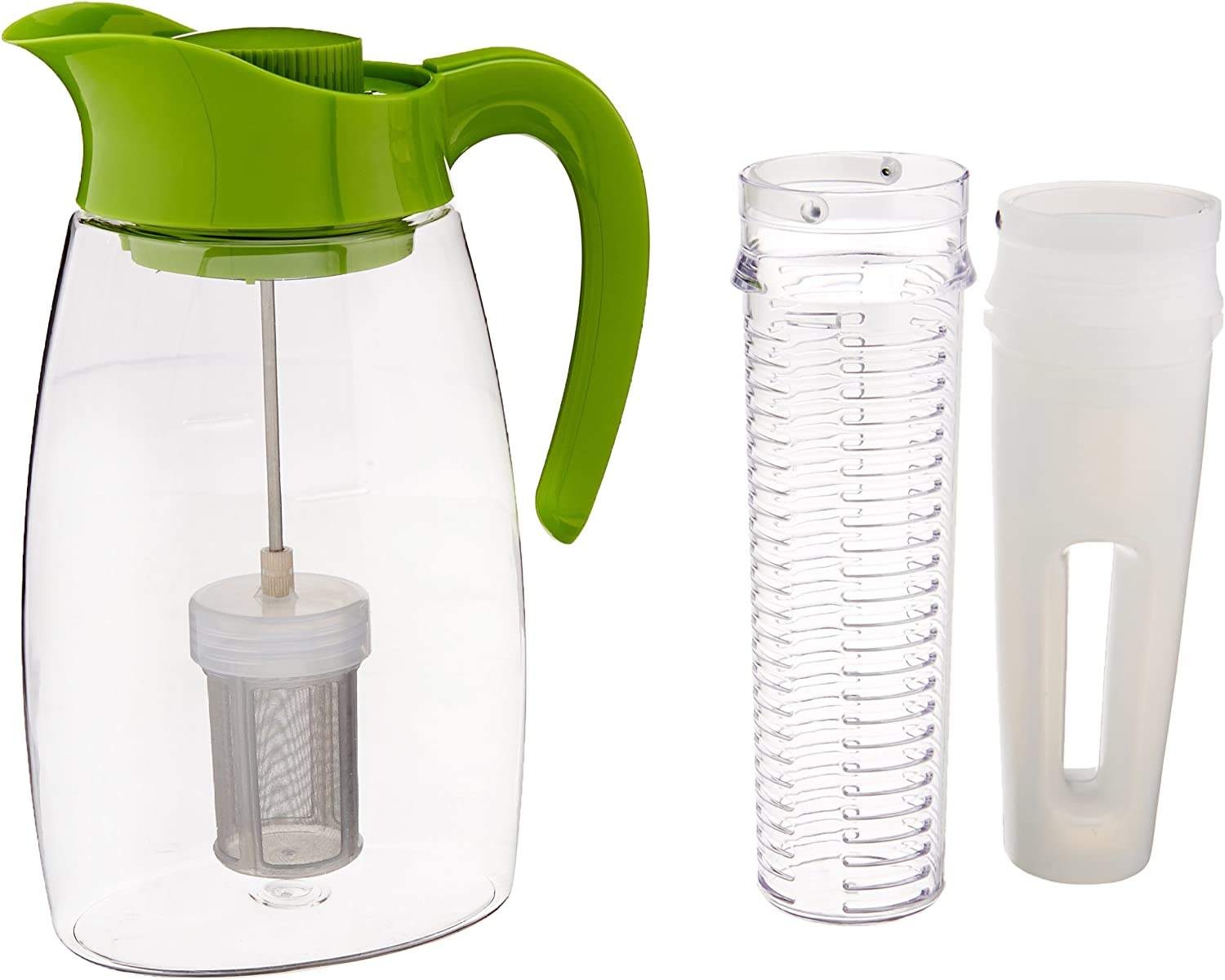 Primula Flavor-It Beverage System – Includes Fruit Infusion Core, Tea Infusion Core, and Chill Core – Dishwasher Safe – 2.9 Qt. – Green