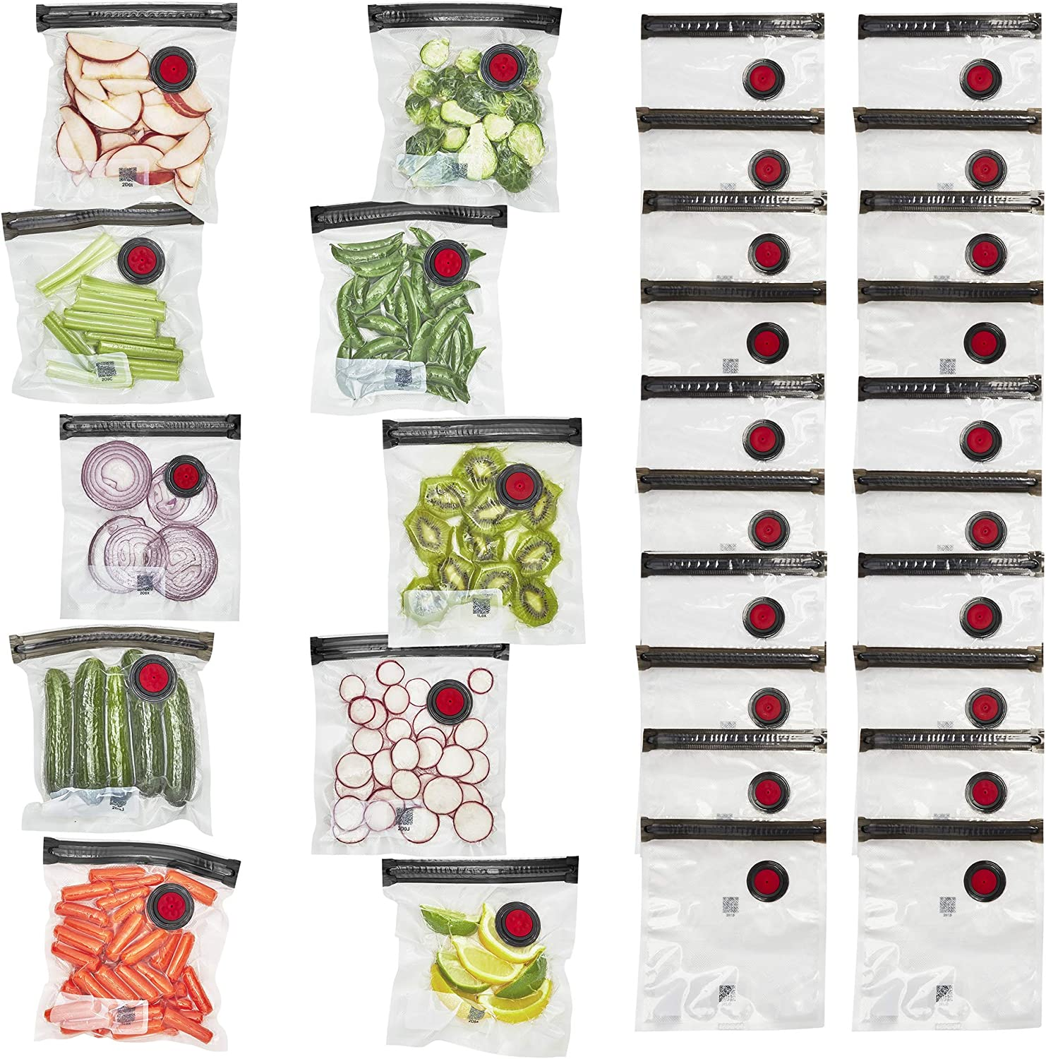 ZWILLING Fresh & Save Vacuum Sealer Bags for Food Set 30-pc - Small, Clear