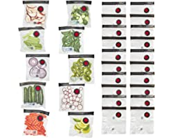 ZWILLING Fresh & Save 30-pc Vacuum Sealer Bag for Food, 1/2 Gallon, Sous Vide Bag, Reusable Food Storage Bag for Meal Prep, R
