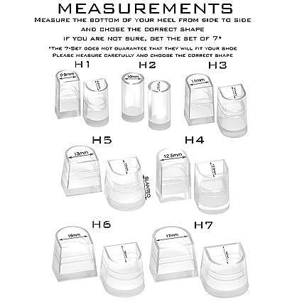 30b123fa95c2d Amazon.com: Heel Hunks Black H7 17mm 3-Pairs Heel Protectors ...