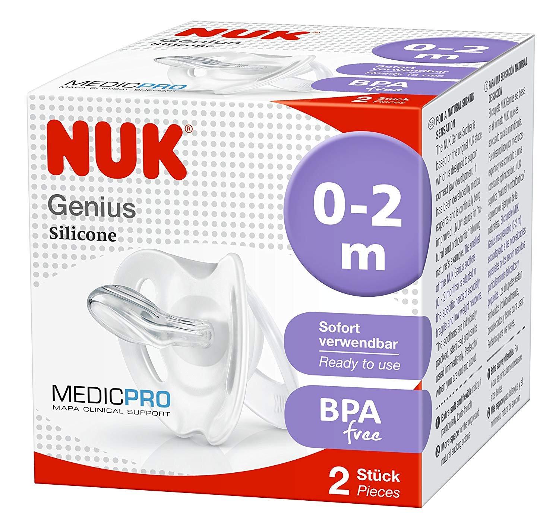 NUK Medic Pro Genius - Chupete (0 a 2 meses, pack de 2)