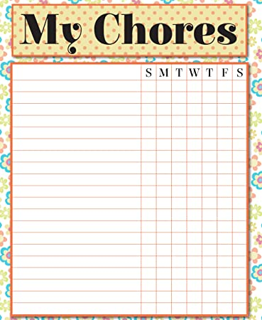 amazon com magnetic chore chart dry erase responsibility chart