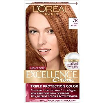Amazon Com L Oreal Paris Excellence Creme Permanent Hair Color 7r