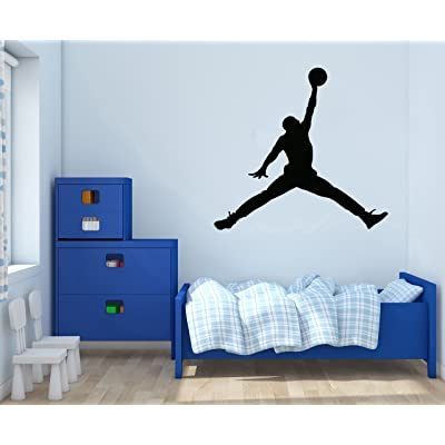"""Jordan Jumpman - Basketball Theme - Wall Decal for Home Nursery Decoration (Wide 30\""""x28\"""" Height Inches): Home & Kitchen [5Bkhe1101208]"""