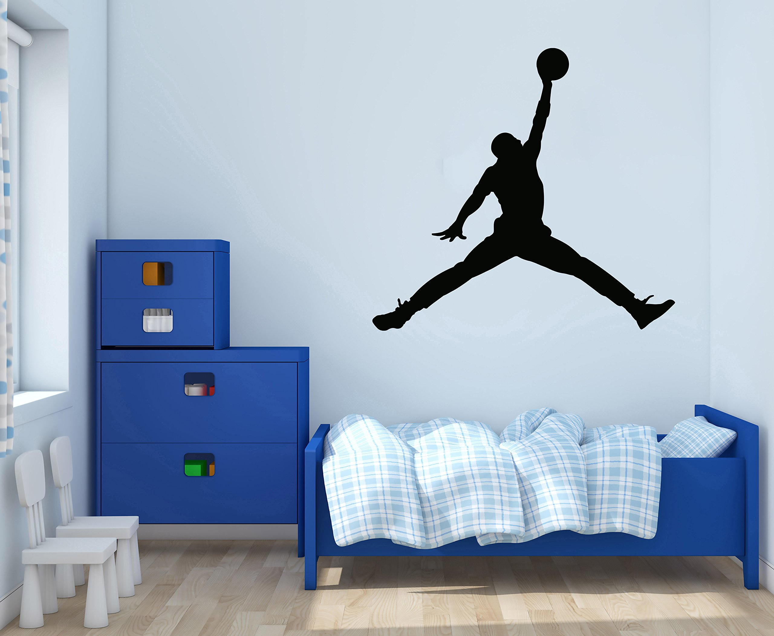Jordan Jumpman - Basketball Theme - Wall Decal For Home Nursery Decoration (Wide 30''x28'' Height Inches)
