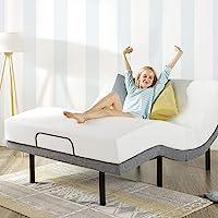 Mellow Genie 500 Adjustable Bed Base Twin XL - Unique Added Head Tilt