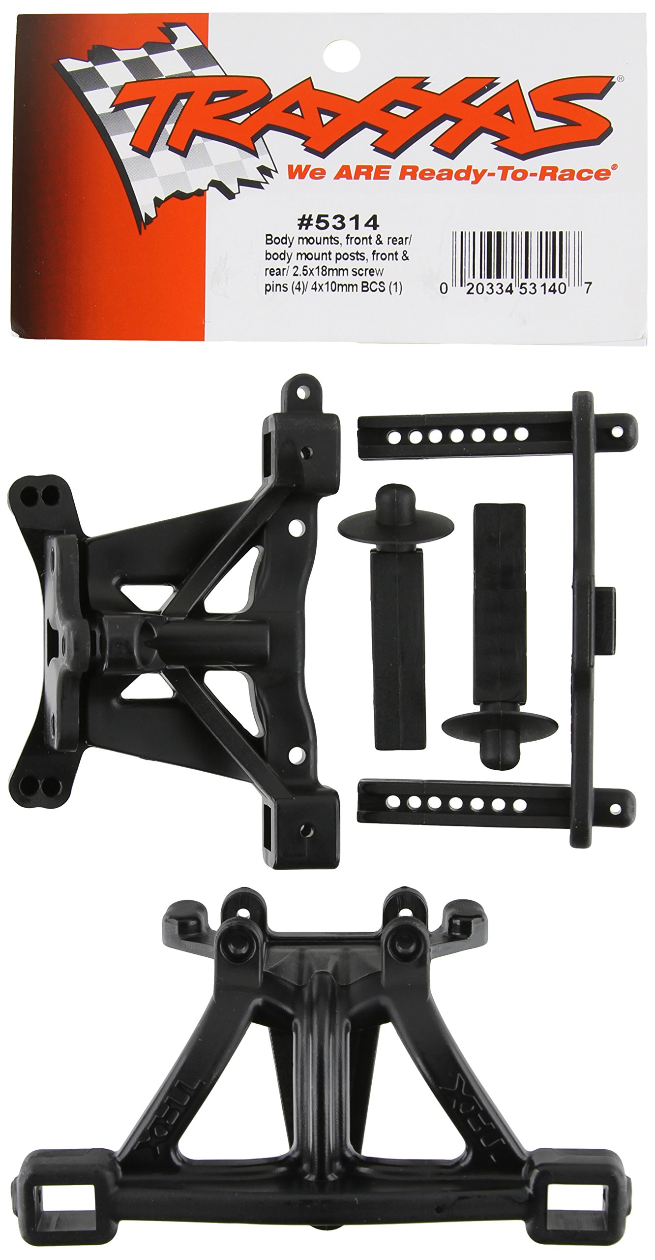 Traxxas 5314 Front and Rear Body Mounts with Posts and Pins