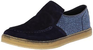 Hush Puppies Men's Gregory Aquaice Slip-On Loafer,Dark Blue Suede/Canvas,