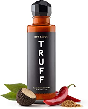 Truff Black Truffle Infused Hot Sauce with Ripe Chili Peppers, 6 oz