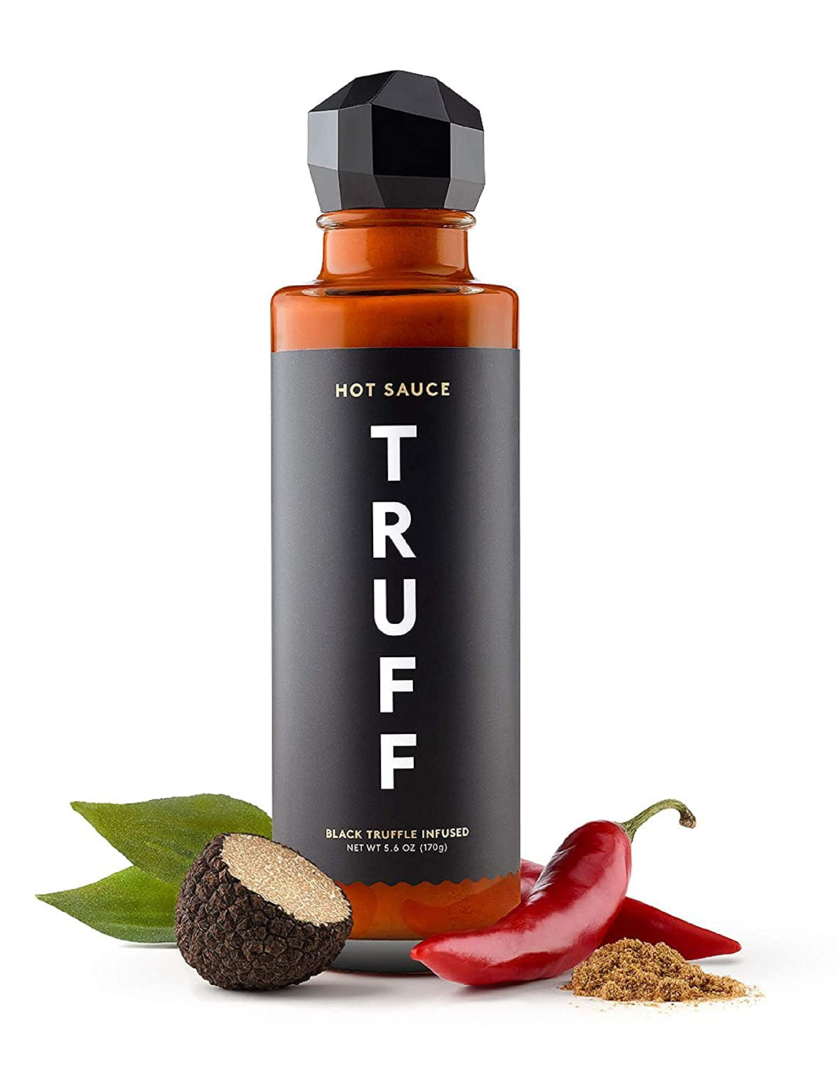 TRUFF Hot Sauce, Gourmet Hot Sauce with Ripe Chili Peppers, Black Truffle, Organic Agave Nectar, An ultra unique Flavor Experience in a 6 oz Bottle