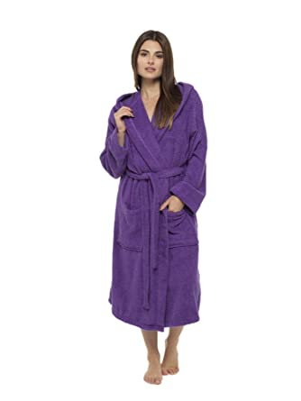 Ladies Robe Luxury Terry Towelling 100% Cotton Dressing Gown ...