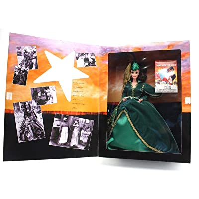 Hollywood Legends Collection Barbie Doll Scarlett O'Hara in Green Drapery Dress: Toys & Games