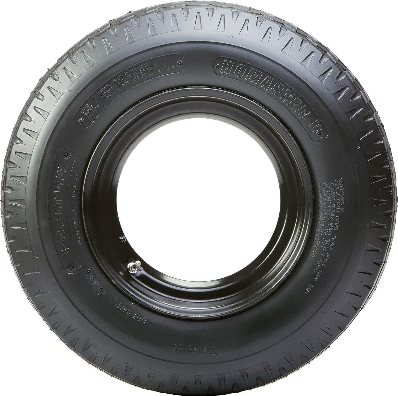Green Ball Homaster 8-14.5 Trailer Tire Donut Open/Wheel Assembly D.O.T.