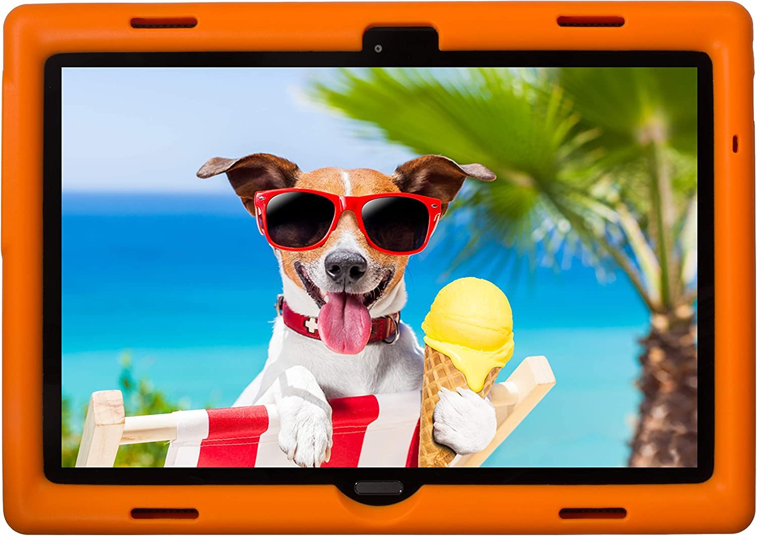 BobjGear Bobj Rugged Tablet Case for Lenovo Smart Tab M10 10.1 inch (TB-X605F, TB-X505F,I,L) and P10 (TB-X705F) Kid Friendly (Outrageous Orange)