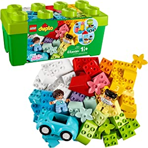 LEGO DUPLO Classic Brick Box 10913 First LEGO Set with Storage Box, Great Educational Toy for Toddlers 18 Months and up, New 2020 (65 Pieces)