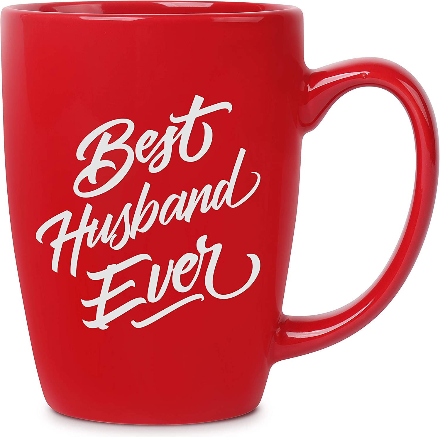 Amazon Com Best Husband Ever 14 Oz Red Bistro Coffee Mug Best Gift Ideas For Husband Him Birthday Christmas Valentines Anniversary Fathers Day Funny Novelty Present Unique Mugs