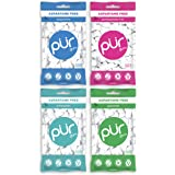 Pur Gum Variety Pack - Peppermint, Pomegranate Mint, Spearmint and Wintergreen - 55 Pieces each